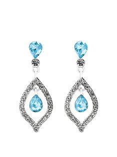 mood-silver-plated-blue-crystal-tear-drop-earrings