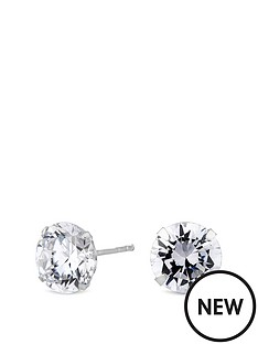 simply-silver-simply-silver-8mm-round-brilliant-cubic-zirconia-studs-earrings