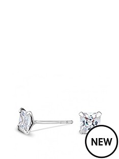 simply-silver-simply-silver-5mm-princess-cut-cubic-zirconia-studs-earrings