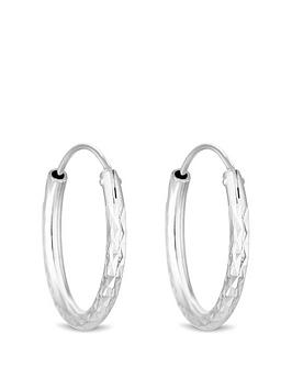 simply-silver-simply-silver-silver-20mm-diamond-cut-hoop-earrings