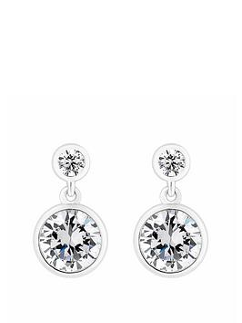 simply-silver-simply-silver-mini-besel-set-solitaire-earrings