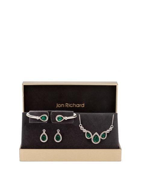 jon-richard-jon-richard-emerald-pear-trio-jewellery-set