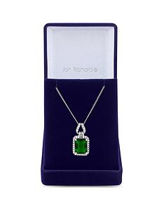 jon-richard-jon-richard-cubic-zirconia-emerald-pendant-necklace