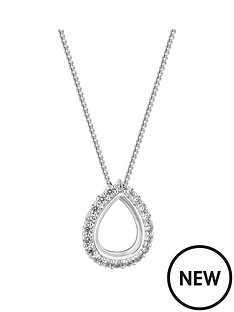 simply-silver-simply-silver-cubic-zirconia-open-pear-pendant-necklace