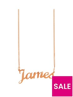 the-love-silver-collection-rose-gold-plated-sterling-silver-personalised-script-name-necklace-on-adjustable-curb-chain