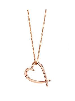 simply-silver-simply-silver-rose-gold-crossover-heart-pendant-necklace