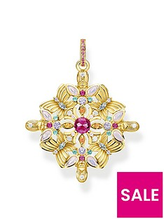 thomas-sabo-thomas-sabo-gold-plated-sterling-silver-amulet-kaleidoscope-butterfly-pendant-necklace