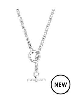 simply-silver-simply-silver-diamond-cut-t-bar-pendant-necklace