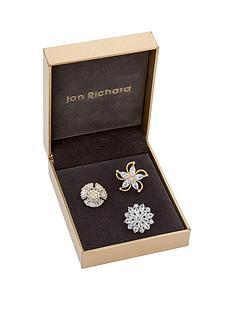 jon-richard-jon-richard-three-pack-of-crystal-flower-brooches
