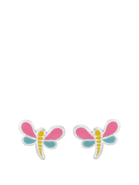 the-love-silver-collection-sterling-silver-enamel-dragonfly-stud-earrings