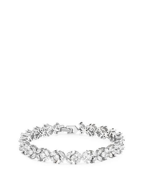 jon-richard-jon-richard-bridal-cubic-zirconia-crystal-floral-tennis-bracelet