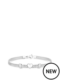 simply-silver-simply-silver-polished-silver-heart-mesh-bracelet