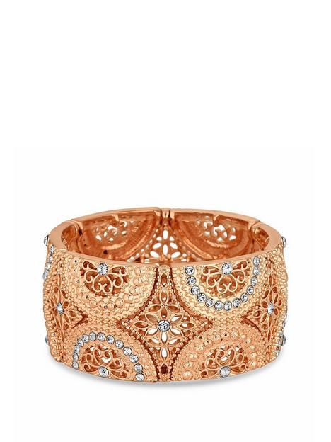 mood-mood-rose-gold-plated-filigree-stretch-bracelet