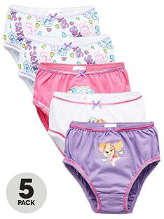 paw-patrol-girlsnbsp5-pack-skye-and-everest-knickers-multi