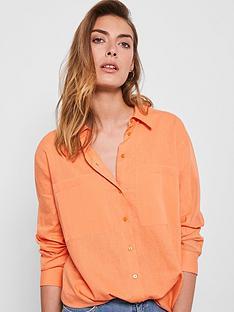 mint-velvet-oversized-pocket-linen-shirt-orange