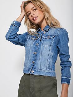 mint-velvet-puff-shoulder-denim-jacket-blue