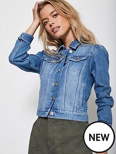 mint-velvet-puff-shoulder-denim-jacket