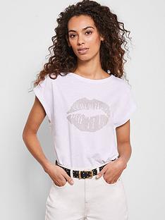 mint-velvet-stud-lips-t-shirt-white