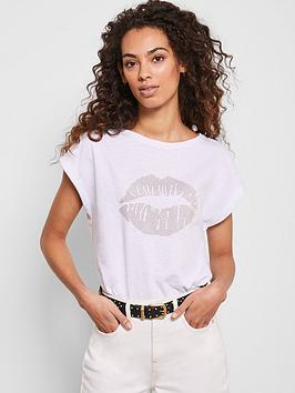 mint-velvet-stud-lips-t-shirt-white