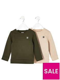 river-island-mini-mini-boys-2pack-sweat-khakistone