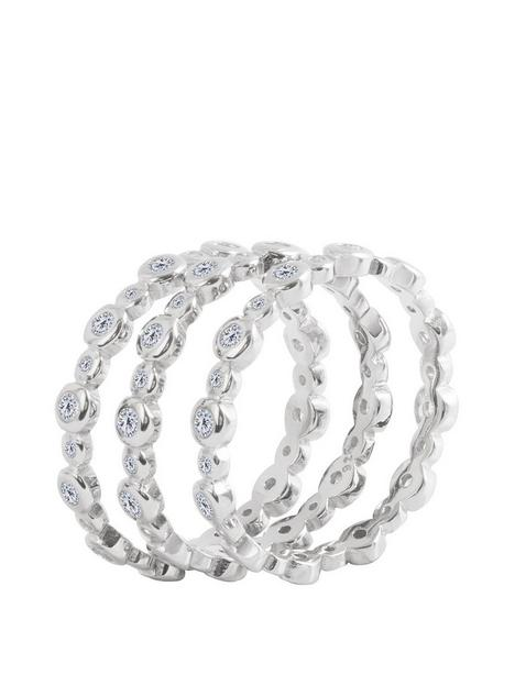 the-love-silver-collection-sterling-silver-bubble-cubic-zirconia-set-of-3-stacking-rings