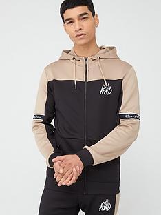 kings-will-dream-vesy-zip-through-hoodie-black