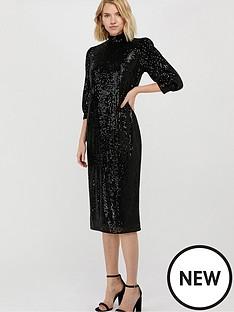 monsoon-kalila-sequin-midi-dress-black