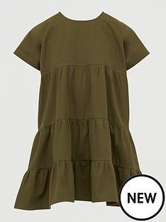 boohoo-denim-tiered-smock-dress-khaki