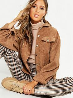 boohoo-oversized-cord-jacket-tan