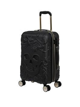 it-luggage-skulls-black-small-suitcase