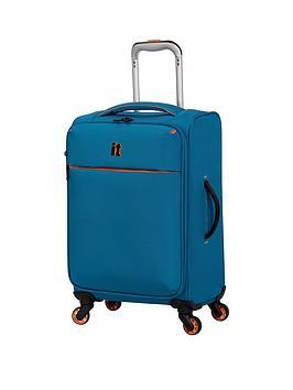 it-luggage-glint-cabin-case-teal-with-orange-trim