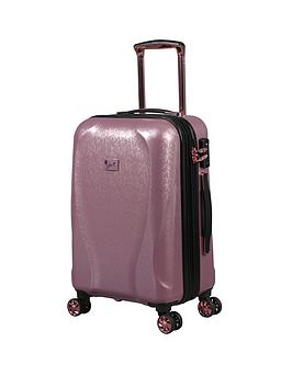 it-luggage-sparkle-pink-cabin-suitcase