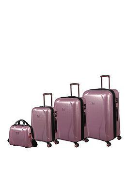it-luggage-sparkle-pink-4pc-luggage-set