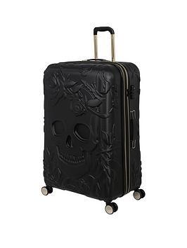 it-luggage-skulls-black-large-suitcase