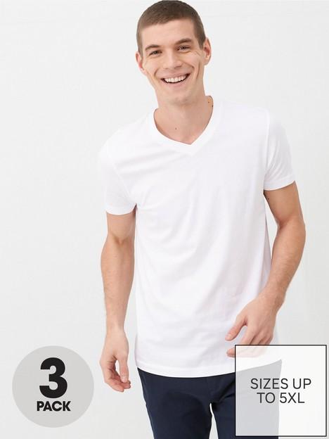 very-man-essentials-3-pack-v-neck-t-shirt-white
