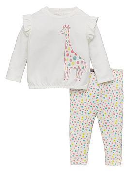 v-by-very-girls-spotted-giraffe-top-amp-legging-set-multi