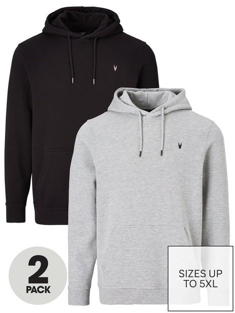 very-man-essential-overhead-hoodie-2-pack-blackgrey-marl