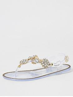 river-island-girls-diamante-embelished-toe-post-sandal--clear