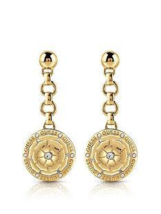 guess-peony-charm-drop-earrings