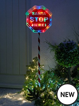 festive-indooroutdoornbsp110nbspcm-santa-stop-herenbspsign-with-multi-coloured-lights