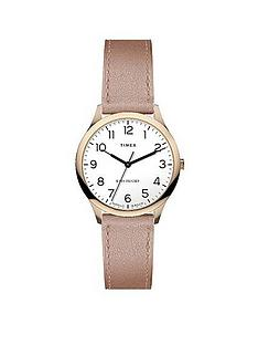 timex-timex-easy-reader-32mm-rose-gold-leather-strap-watch