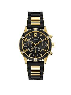 guess-guess-breeze-gold-black-silicone-strap-womens-watch
