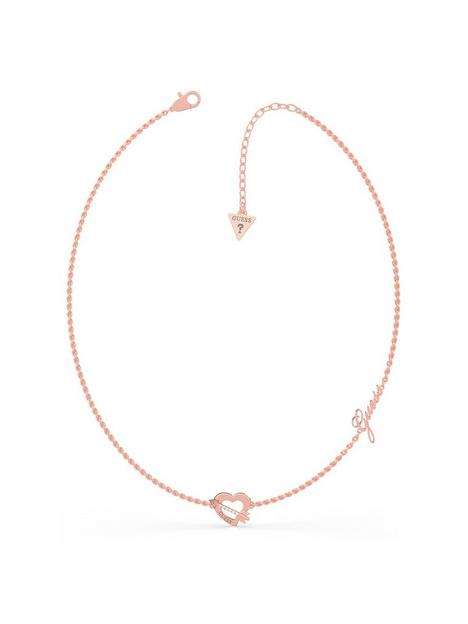 guess-heart-and-arrow-necklace