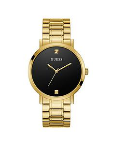 guess-guess-supernova-black-diamond-set-dial-gold-bracelet-mens-watch
