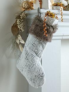 festive-grey-faux-fur-stocking