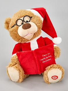 festive-27nbspcm-battery-operated-story-telling-christmasnbspbear