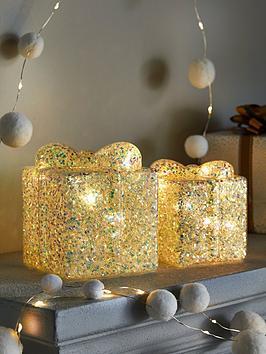 festive-set-ofnbsp2-battery-operated-glitter-boxnbspchristmas-decorations
