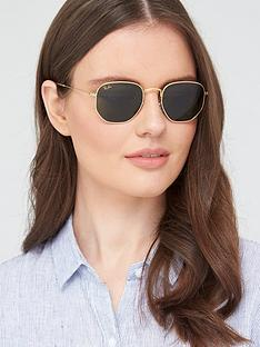 ray-ban-square-sunglasses-gold