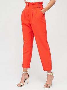 river-island-peg-trouser-red