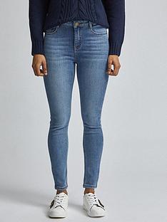 dorothy-perkins-petites-midwash-shape-amp-lift-jeans-blue